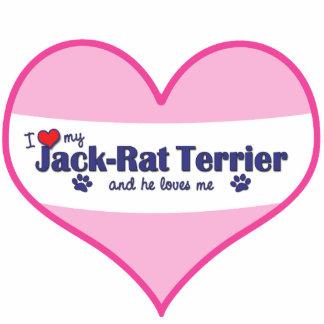 I Love My Jack-Rat Terrier (Male Dog) Photo Sculpture Ornament