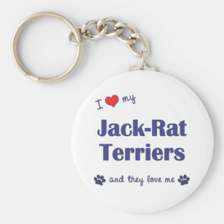 I Love My Jack-Rat Terriers (Multiple Dogs) Basic Round Button Keychain