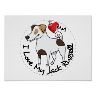 I Love My Jack Russell Dog Poster