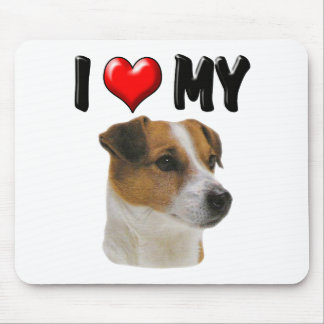 I Love My Jack Russell Mouse Pad