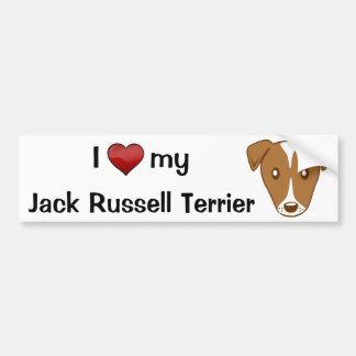 I love my Jack Russell Terrier Car Bumper Sticker