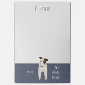 I love my Jack Russell Terrier cute dog Post-it Notes