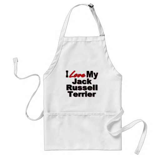I Love My Jack Russell Terrier Dog Gifts Aprons