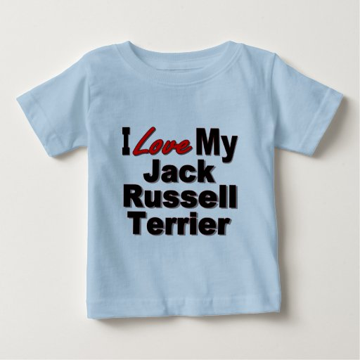 I Love My Jack Russell Terrier Dog Gifts Baby T-Shirt