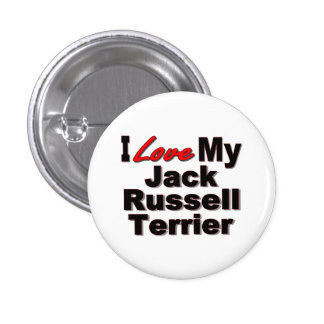 I Love My Jack Russell Terrier Dog Gifts Button