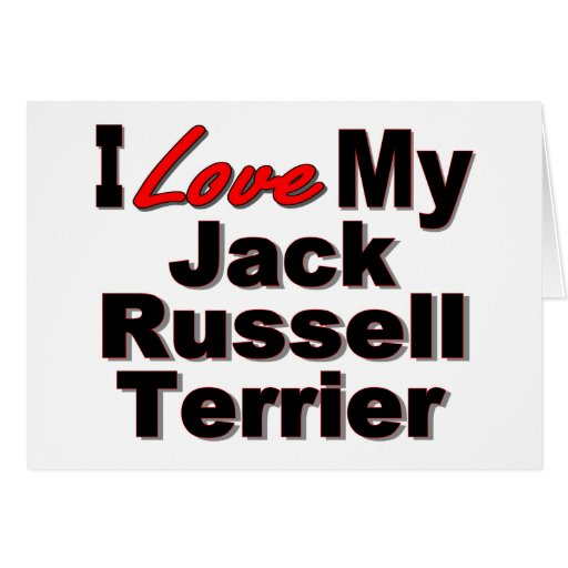 I Love My Jack Russell Terrier Dog Gifts Greeting Card