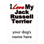 I Love My Jack Russell Terrier Dog Gifts Post Card