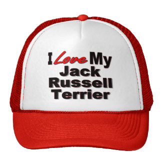 I Love My Jack Russell Terrier Dog Gifts Trucker Hat