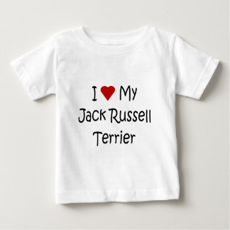 I Love My Jack Russell Terrier Dog Lover Gifts Baby T-Shirt