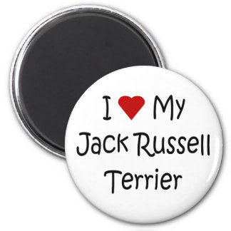 I Love My Jack Russell Terrier Dog Lover Gifts Magnet