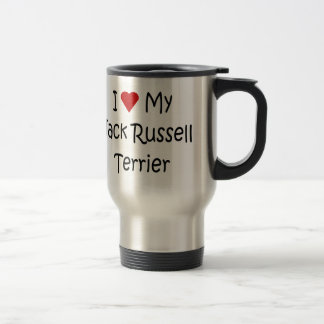 I Love My Jack Russell Terrier Dog Lover Gifts Travel Mug