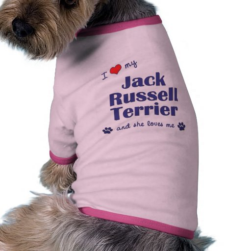 I Love My Jack Russell Terrier (Female Dog) Pet Clothes