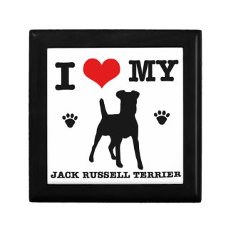 I Love my Jack Russell Terrier Jewelry Boxes