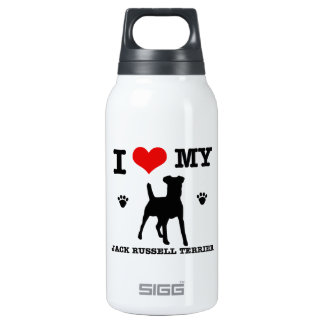 I Love my Jack Russell Terrier Insulated Water Bottle