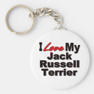 I Love My Jack Russell Terrier Keychain