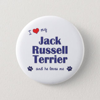 I Love My Jack Russell Terrier (Male Dog) Button