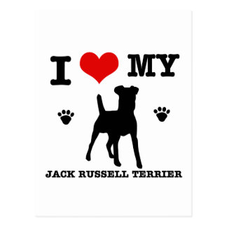 I Love my Jack Russell Terrier Postcard