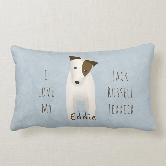 I love my Jack Russell Terrier reversible Lumbar Pillow