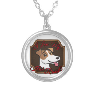 I Love My Jack Russell Terrier Round Pendant Necklace
