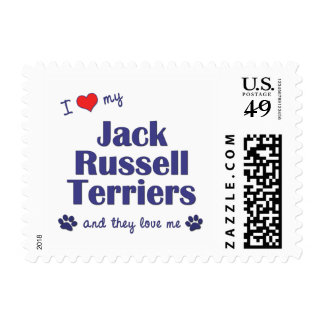 I Love My Jack Russell Terriers (Multiple Dogs) Postage