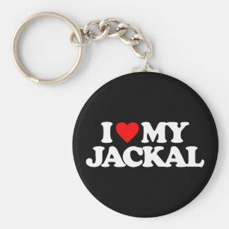 I LOVE MY JACKAL KEYCHAIN