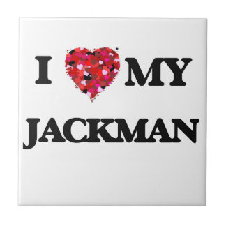 I Love MY Jackman Small Square Tile
