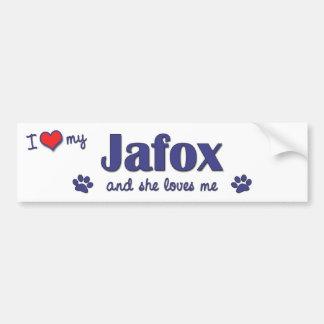 I Love My Jafox (Female Dog) Car Bumper Sticker