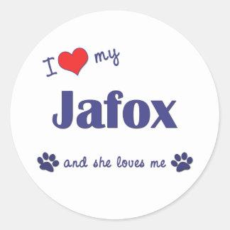 I Love My Jafox (Female Dog) Classic Round Sticker
