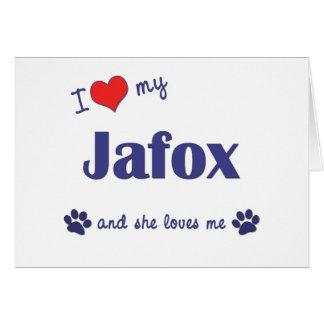 I Love My Jafox (Female Dog) Greeting Card