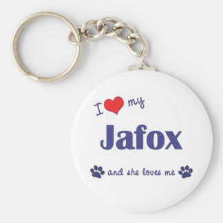 I Love My Jafox (Female Dog) Keychains