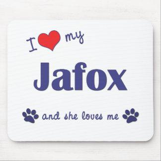 I Love My Jafox (Female Dog) Mouse Pad