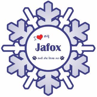 I Love My Jafox (Female Dog) Photo Cut Out