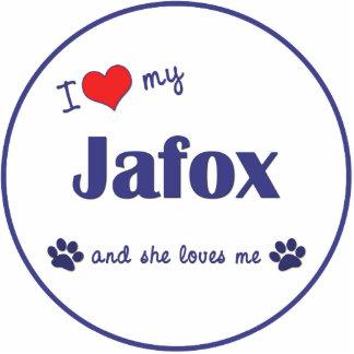 I Love My Jafox (Female Dog) Photo Cutouts