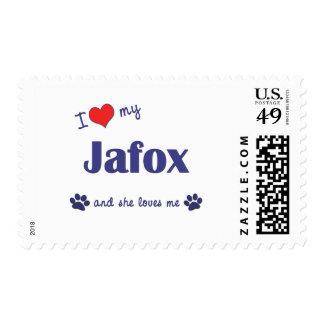I Love My Jafox (Female Dog) Postage