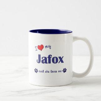I Love My Jafox (Female Dog) Two-Tone Coffee Mug