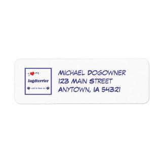 I Love My Jagdterrier (Male Dog) Return Address Label