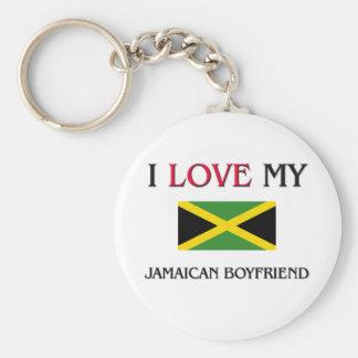 I Love My Jamaican Boyfriend Basic Round Button Keychain