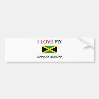 I Love My Jamaican Grandma Bumper Stickers