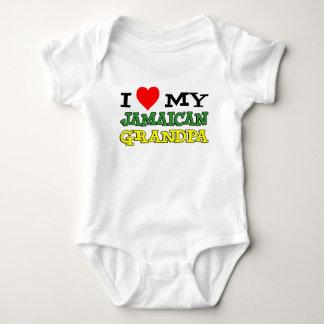I Love My Jamaican Grandpa Baby Bodysuit