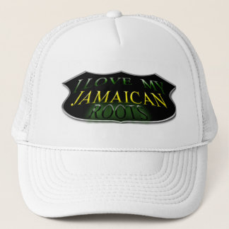 I Love My Jamaican Roots Trucker Hat