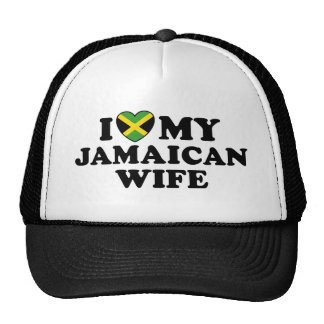 I Love My Jamaican Wife Trucker Hat