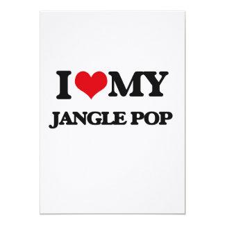 I Love My JANGLE POP 5x7 Paper Invitation Card