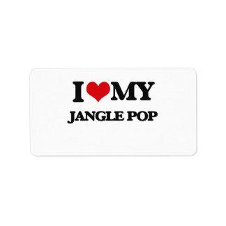 I Love My JANGLE POP Address Label