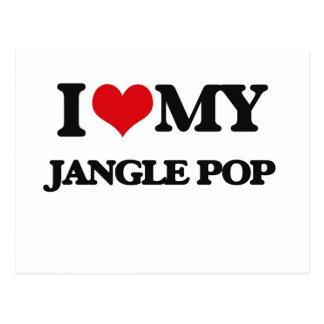 I Love My JANGLE POP Postcard