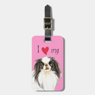 I Love my Japanese Chin Luggage Tag