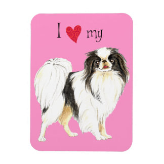 I Love my Japanese Chin Magnet
