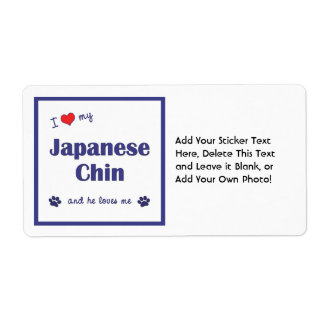 I Love My Japanese Chin (Male Dog) Label