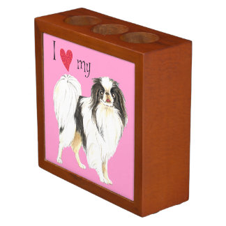 I Love my Japanese Chin Pencil Holder
