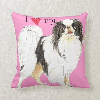 I Love my Japanese Chin Throw Pillow
