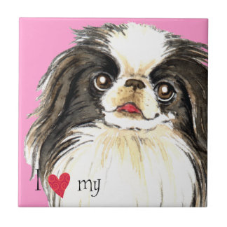 I Love my Japanese Chin Tile